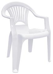 Пластиковое кресло для бара Луч белый
