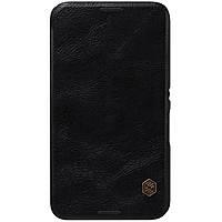 Кожаный чехол Nillkin Qin для Sony Xperia E4 чёрный, фото 1