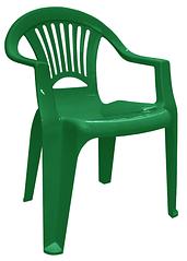 Пластиковое кресло для летника Луч зеленый