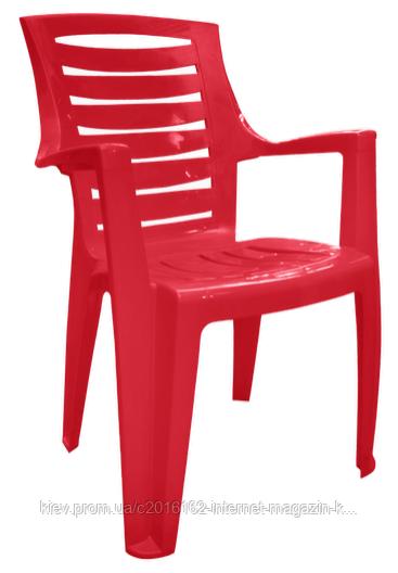 Пластмассовое кресло для кафе и бара Рекс вишневый