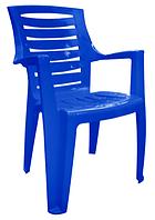Пластиковое кресло для дачи и кафе Рекс темно-синий
