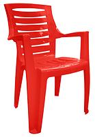 Кресло из пластмассы для кафе  Рекс красный