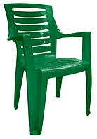 Кресло пластиковое для летнего кафе Рекс зеленый