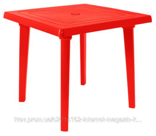 Столик для кафе квадратный красный