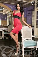 Женский стильный сарафан футляр на широких бретелях короткий микродайвинг , фото 1