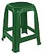 Дачный пластиковый табурет для летника Пиф зеленый