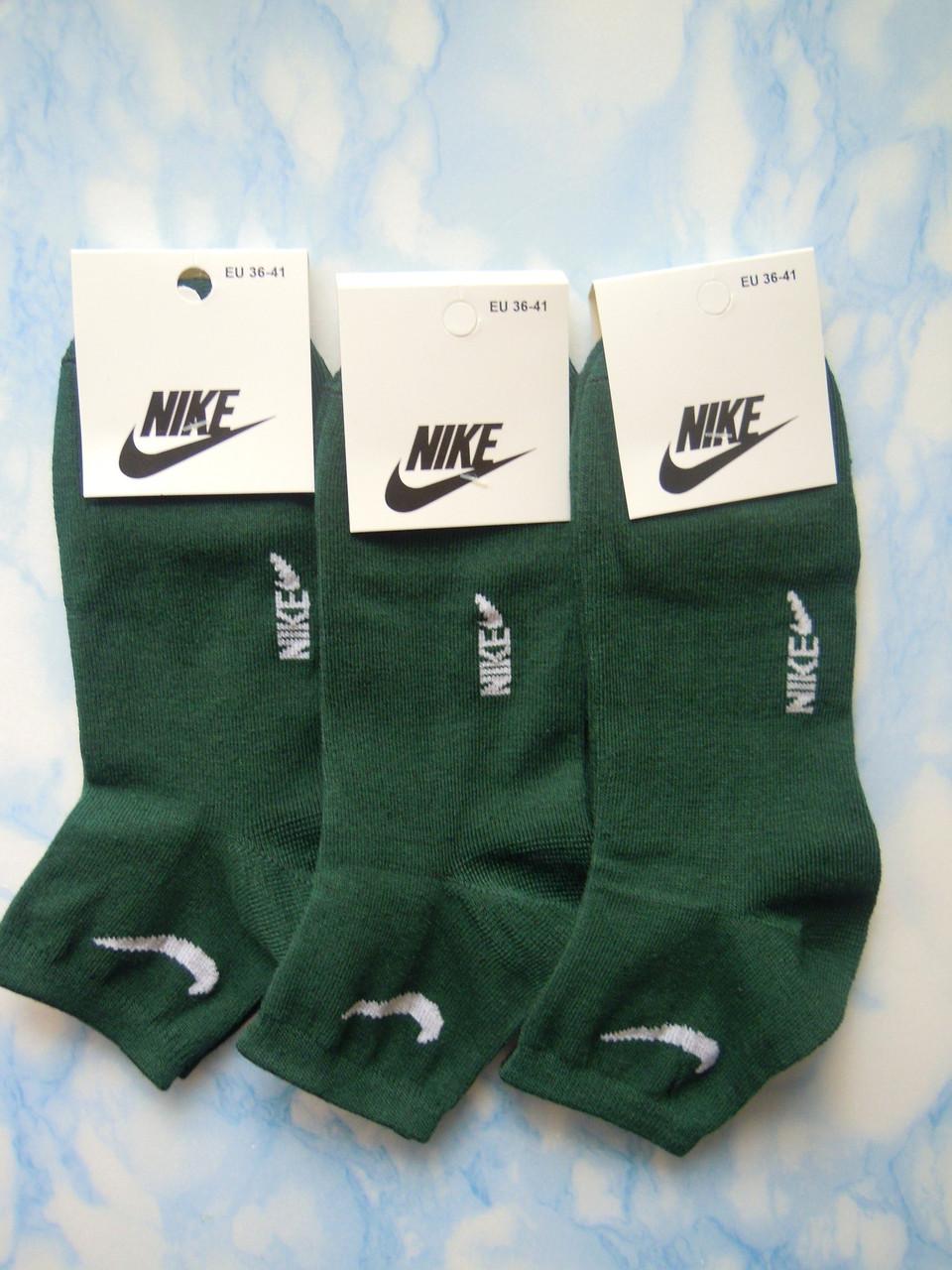 Носки женские зеленые, размер 36-41