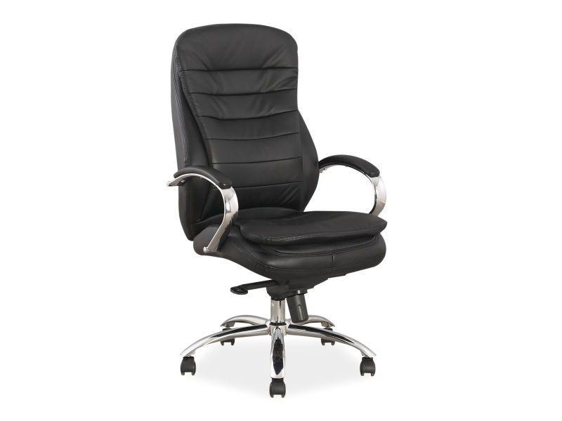 Компьютерное кресло Q-154 натуральная кожа Signal черный