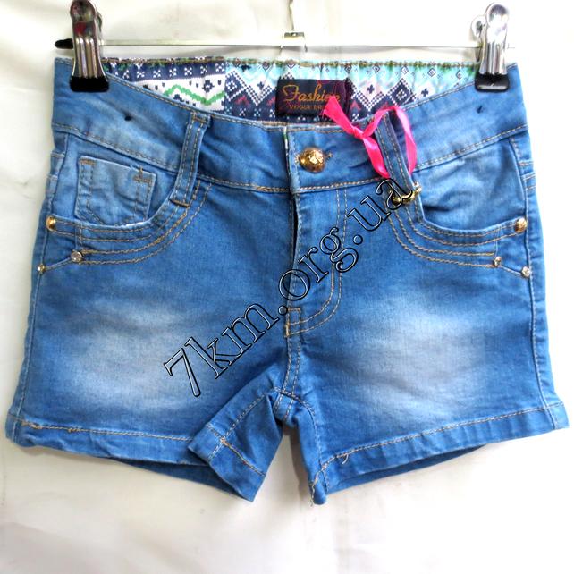 Шорты джинсовые для девочек 6-14лет   GB09