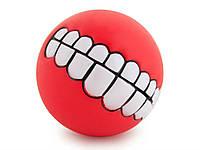 Мячик игрушка для животных Улыбка Smile  Красный