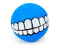 Мячик игрушка для животных Улыбка Smile  Синий