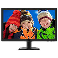 "Philips 23.6"" 243V5QHSBA/01 MVA Black, фото 1"