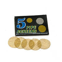 Сетки для курительных трубок бронзовые ( 5 шт в упаковке)