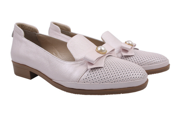 Туфли комфорт Guero натуральная кожа, цвет пудра
