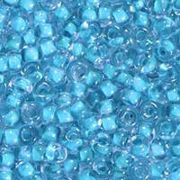 Бисер №38332, №10, Preciosa (Чехия), голубой прокрашенный,прозрачный