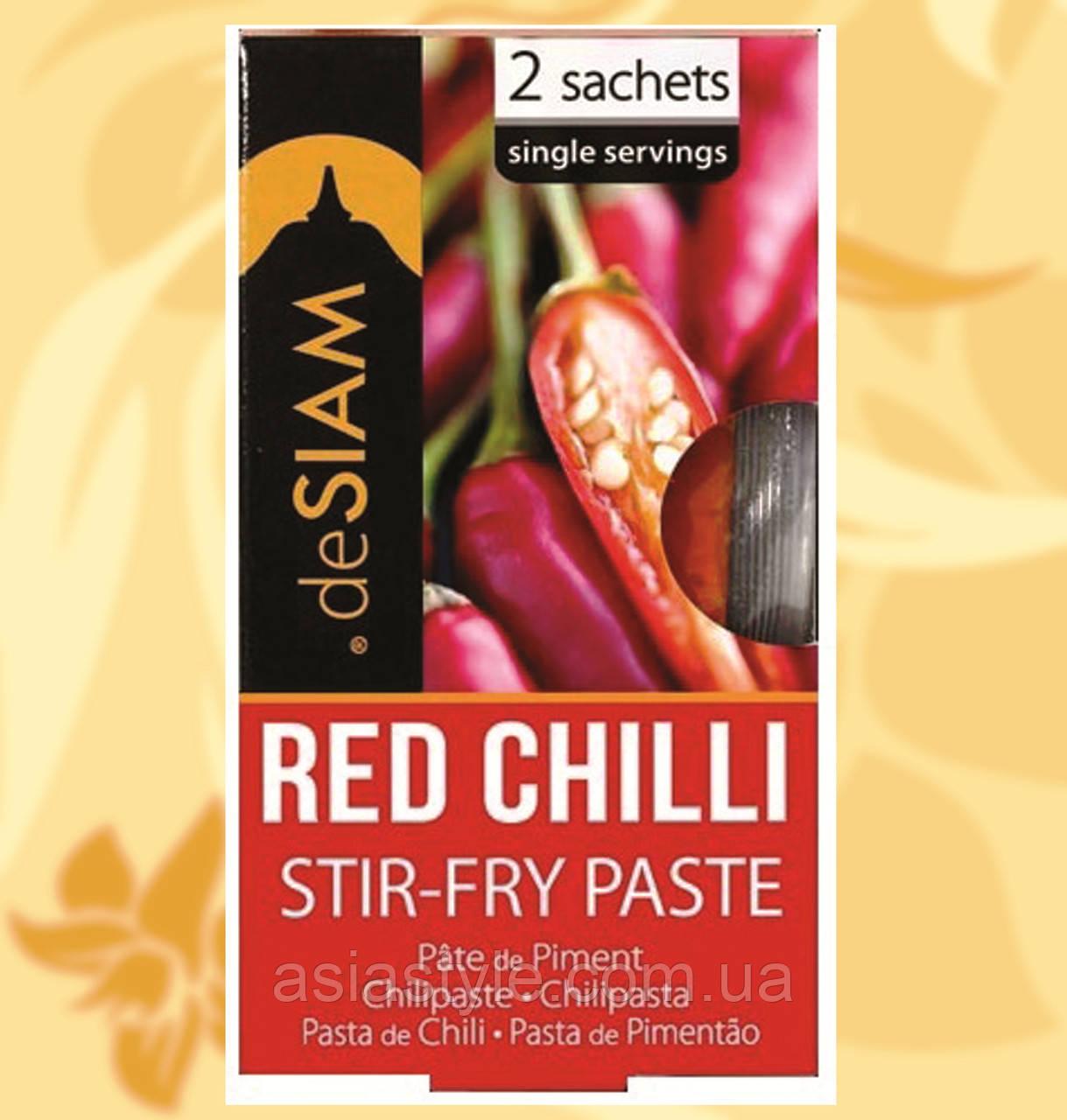 Паста для обсмажування з червоного перцю чилі (стір-фрай,пате), deSiam, 30г, Фо