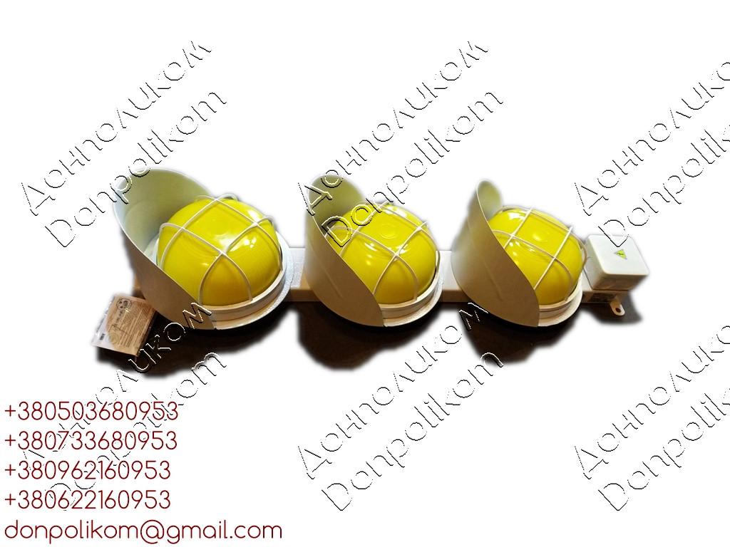 СС3/40LED - трехсекционный  светофор светодиодный троллейный Вертикальное, желтый