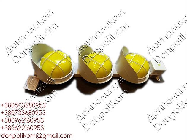 СС3/40LED - трехсекционный  светофор светодиодный троллейный Вертикальное, желтый, фото 2