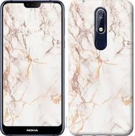 Чехол EndorPhone на Nokia 7.1 3847u-1593-9016 Белый мрамор (hub_vPiu24882)