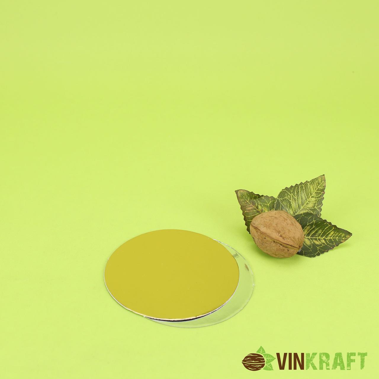Підложка d=90 мм (1 мм)  для тістечка  золото-срібло