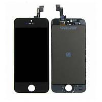 Дисплей (LCD) iPhone 5S/  SE с сенсором чёрный оригинал (переклейка)