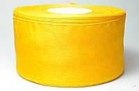Лента из органзы 5 см, темно-желтая, рулон (46 м.)