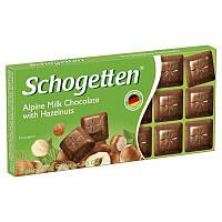 Шоколад Schogetten альпийский молочный с фундуком 100 г