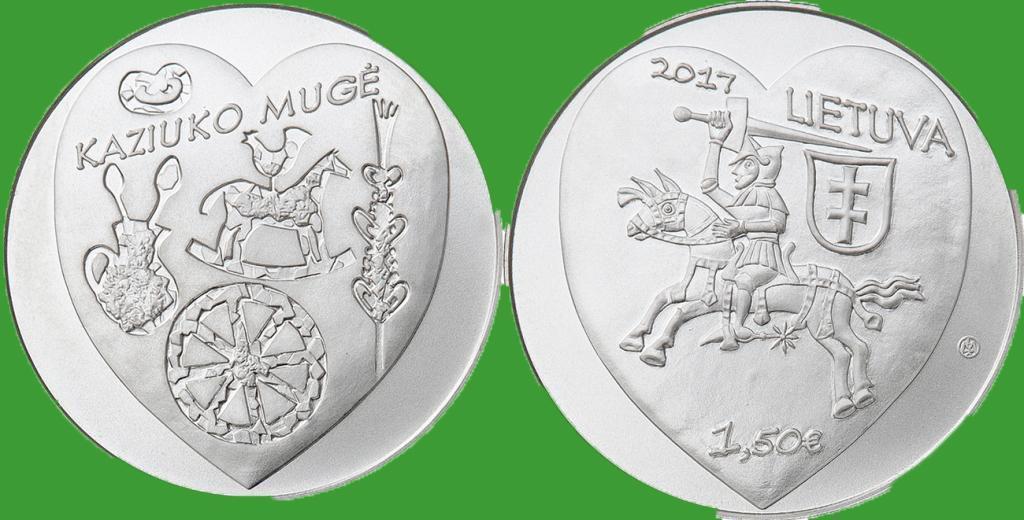 Литва 1,5 евро 2017 г. Ярмарка Казюкаса в Вильнюсе. UNC