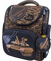 Рюкзак школьный DeLune 3-133, полиэстер, коричневый, 15л