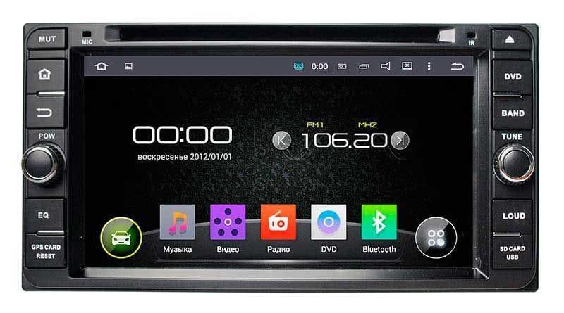 """Универсальная штатная магнитола для Toyota Incar AHR-2230 на Android 5.1 экран 7"""""""
