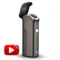 Электроимпульсная USB зажигалка Big Boss Gray 048_6