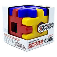 Дитяча іграшка конструктор сортер Maximus «Сортер Куб»
