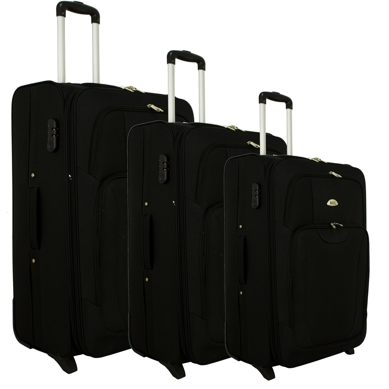 e6139229b5be Чемодан сумка RGL 1003 набор 3 штуки черный: продажа, цена в Луцке ...