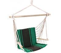 Кресло-гамак UP! (Underprice) с подушками 98x100 см зелено-коричневый
