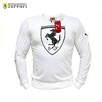 Мужской Cвитшот. Реплика Puma Ferrari White Big Logo. Мужская одежда