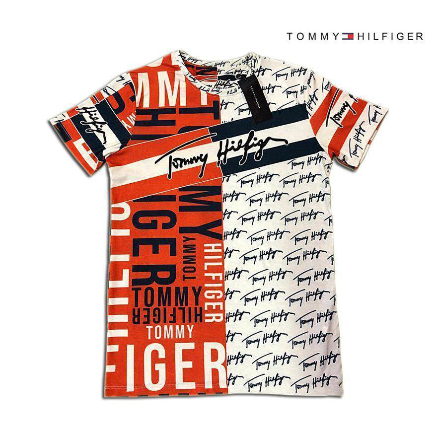 Мужская футболка. Реплика TOMMY HILFIGER Мужская одежда
