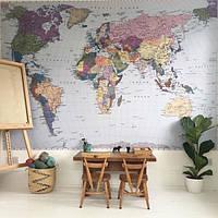 Фотообои Komar Карта мира 4-050