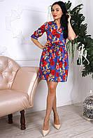 Платье из хлопка в цветочный принт, фото 1