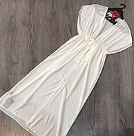 Красивая прозрачная туника, пляжная одежда шифоновая