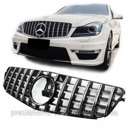 Решетка радиатора Mercedes C-Class W204 стиль Brabus/GT
