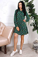 Молодежное платье с цветочным принтом