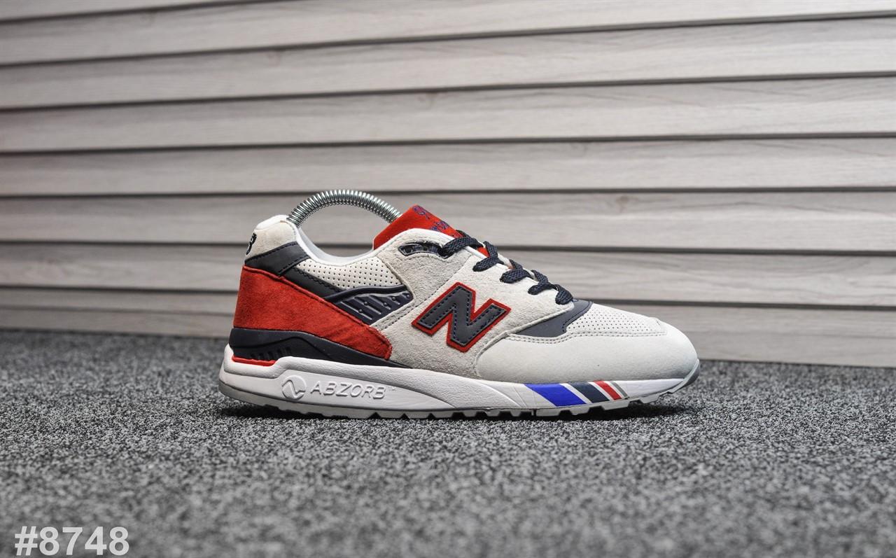 Мужские кроссовки New Balance 998 Gray Red, Реплика