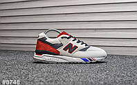 Мужские кроссовки New Balance 998 Gray Red, Реплика, фото 1
