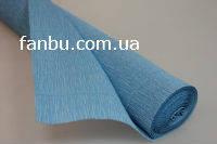 Креп бумага голубая №556