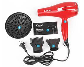 Фен для волосся Kemei KM 8888, професійний фен для сушіння волосся, 950 Вт CG23, фото 2