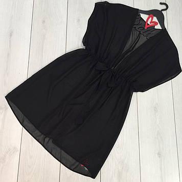 Короткая женская туника шифоновая,пляжная одежда