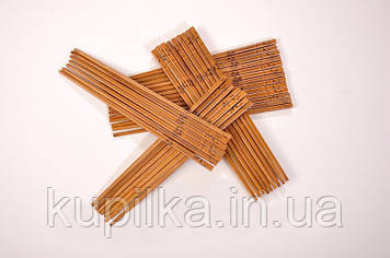 Бамбуковые палочки для еды лакированные 24см.