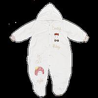 Детский весенний, осенний комбинезон, верх плащевка, утеплитель синтепон, подкладка махра, р. 80, Турция