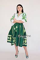 Женский костюм летний, вышитая юбка с поясом и блузка в этно бохо стиле, вышитая одежда