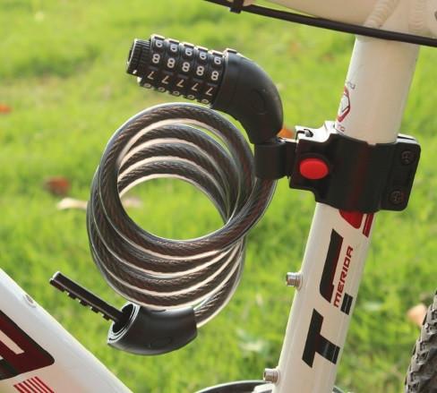 Велозамок кодовый TONYON легированная сталь 12мм*1200мм